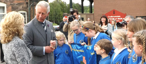 Prince Charles meeting the Children of Coalbrookdale & Ironbridge School